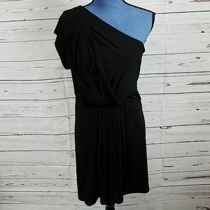 Gorgeous One Shoulder BCBG Black Dress